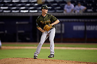 Tampa Tarpons relief pitcher Braden Bristo (5) during a Florida State League game against the Daytona Tortugas on May 18, 2019 at George M. Steinbrenner Field in Tampa, Florida.  Daytona defeated Tampa 7-6.  (Mike Janes/Four Seam Images)