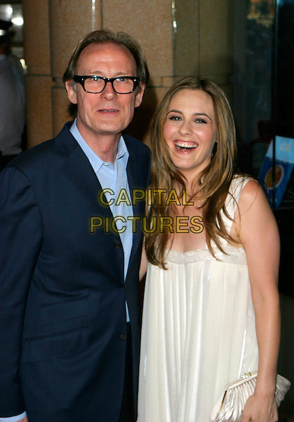 "BILL NIGHY & ALICIA SILVERSTONE.Arrivals - World Premiere of ""Stormbreaker"",.Vue West End, Leicester Square, London,.England, July 17th 2006..half length.REf: AH.www.capitalpictures.com.sales@capitalpictures.com.©Adam Houghton/Capital Pictures."
