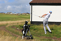 Robert Brazill (Naas) in the rough on the 4th during the Final of the AIG Irish Amateur Close Championship 2019 in Ballybunion Golf Club, Ballybunion, Co. Kerry on Wednesday 7th August 2019.<br /> <br /> Picture:  Thos Caffrey / www.golffile.ie<br /> <br /> All photos usage must carry mandatory copyright credit (© Golffile | Thos Caffrey)