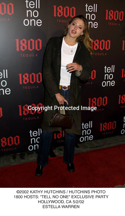 "©2002 KATHY HUTCHINS / HUTCHINS PHOTO.1800 HOSTS: ""TELL NO ONE"" EXCLUSIVE PARTY.HOLLYWOOD, CA 5/2/02.ESTELLA WARREN"