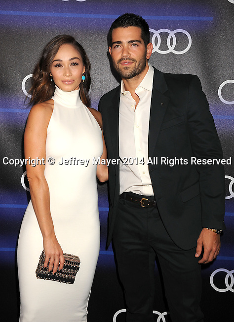 LOS ANGELES, CA- AUGUST 21: Actors Cara Santana (L) and Jesse Metcalfe arrive at the Audi Emmy Week Celebration at Cecconi's Restaurant on August 21, 2014 in Los Angeles, California.LOS ANGELES, CA- AUGUST 21: Actress Cara Santana arrives at the Audi Emmy Week Celebration at Cecconi's Restaurant on August 21, 2014 in Los Angeles, California.