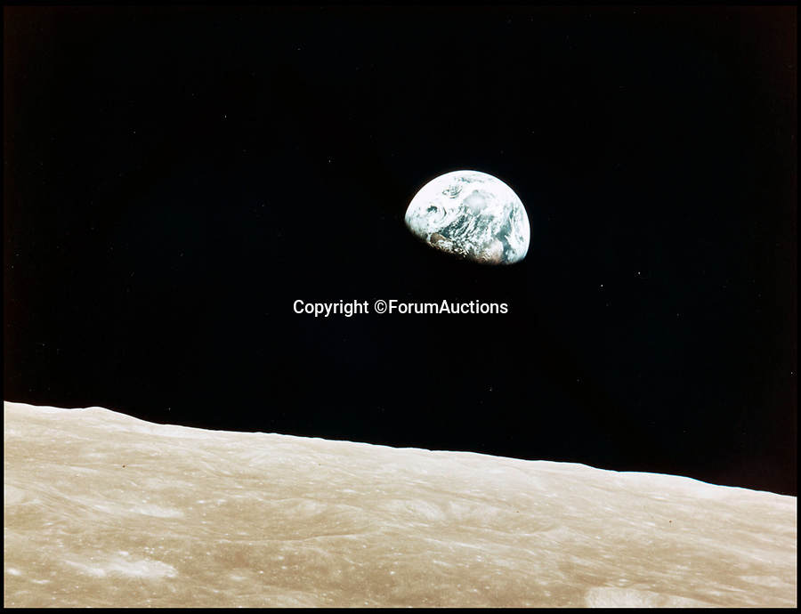 BNPS.co.uk (01202 558833)<br /> Pic: ForumAuctions/BNPS<br /> <br /> The first 'Earthrise' ever seen by man - Taken by Apollo 8 pilot Bill Landers in December 1968'<br /> <br /> One small step for man...One giant leap for photography.<br /> <br /> An out of this world set of contemporary vintage photographs from NASA is coming up for auction chronicling the Apollo programs astonishing achievements over 45 years ago.