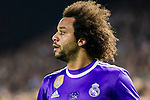 Marcelo Vieira Da Silva of Real Madrid looks on during their La Liga match between Valencia CF and Real Madrid at the Estadio de Mestalla on 22 February 2017 in Valencia, Spain. Photo by Maria Jose Segovia Carmona / Power Sport Images