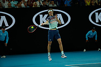 29th January 2020; Melbourne Park, Melbourne, Victoria, Australia; Australian Open Tennis, Day 10; Alexander Zverev of Germany during his mens singles semi-final match against Dominic Thiem of Austria
