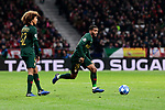 AS Monaco's Han-Noah Massengo (L) and Samuel Grandsir (R) during UEFA Champions League match between Atletico de Madrid and AS Monaco at Wanda Metropolitano Stadium in Madrid, Spain. November 28, 2018. (ALTERPHOTOS/A. Perez Meca)