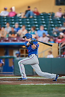 Carlos Tocci (60) of the Round Rock Express bats against the Omaha Storm Chasers at Werner Park on May 27, 2018 in Papillion , Nebraska. Round Rock defeated Omaha 8-3. (Stephen Smith/Four Seam Images)