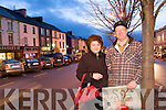 Michael and Mary Walsh Christmas Shopping in Castleisland on Monday