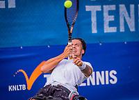 Amstelveen, Netherlands, 19 Augustus, 2020, National Tennis Center, NTC, NKR, National  Wheelchair Tennis Championships, Men's single: Carlos Anker (NED)<br /> Photo: Henk Koster/tennisimages.com