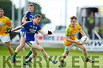 Philip O'Connor Kerry in action against Cathal McConnell Meath in the All Ireland Junior Football Final at O'Moore Park, Portlaoise on Saturday.