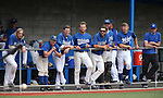 The Western Nevada Wildcats watch action against Mt. Hood at John L. Harvey Field in Carson City, Nev., on Friday, March 14, 2014. <br /> Photo by Cathleen Allison/Nevada Photo Source