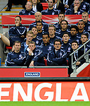 England manager Fabio Capello reacts during the first half during the Friendly International match at Wembley Stadium, London. Picture date 28th May 2008. Picture credit should read: Simon Bellis/Sportimage