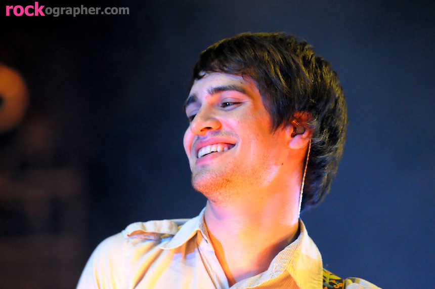Brendon Vrie , guitarist with Vegas based emo rockers Panic at the Disco,..performs at Bamboozle 08 at  Meadowlands NJ