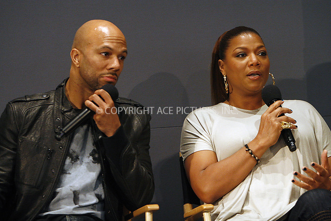 WWW.ACEPIXS.COM . . . . .  ....May 6 2010, New York City....Actress Queen Latifah and singer Common speak in the Apple Store in Soho on May 6 2010 in New York City....Please byline: NANCY RIVERA- ACE PICTURES.... *** ***..Ace Pictures, Inc:  ..tel: (212) 243 8787 or (646) 769 0430..e-mail: info@acepixs.com..web: http://www.acepixs.com