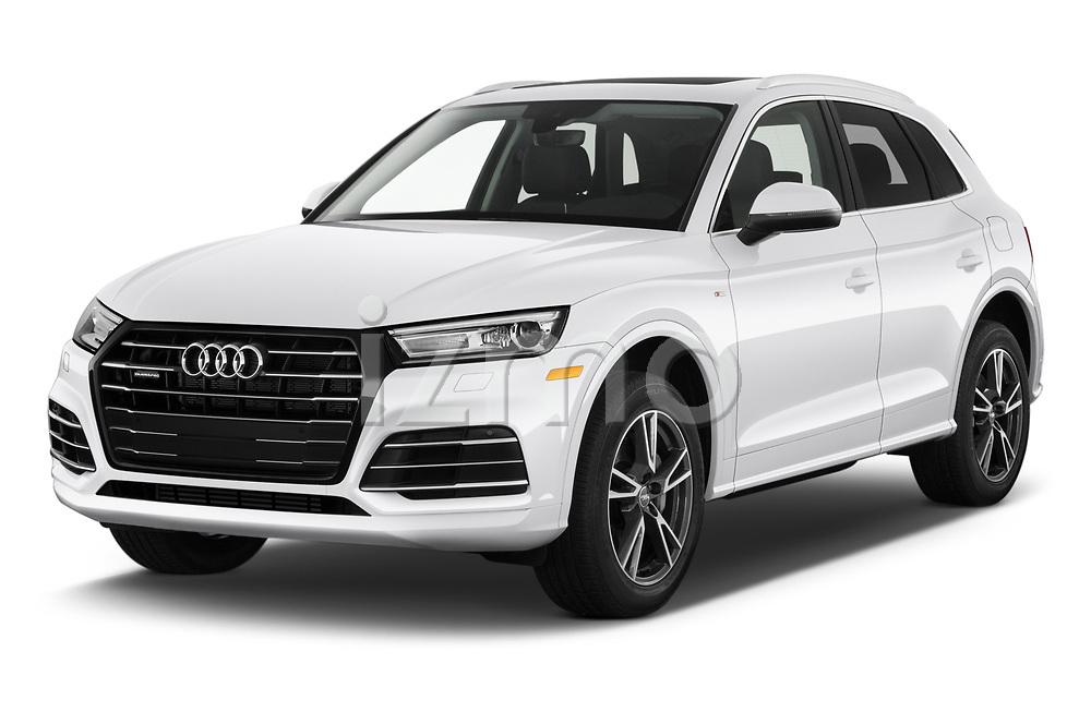 2020 Audi Q5 Premium 5 Door SUV angular front stock photos of front three quarter view