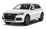 2020 Audi Q5 Premium 5 Door SUV angular front stock photos of front three quarter view