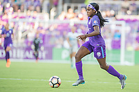 Orlando, FL - Sunday May 14, 2017: Chioma Ubogagu during a regular season National Women's Soccer League (NWSL) match between the Orlando Pride and the North Carolina Courage at Orlando City Stadium.