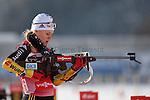 Biathlon: IBU Weltcup Biathlon in Antholz.. Miriam Goessner on 17/01/2013 in Antholz, Italien. ..© Pierre Teyssot
