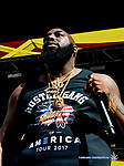 Artist Trae Tha Truth performs on the Dos XX Rio Bravo Stage at the 2017 Neon Desert Muisc Festival, May 27, 2017 in El Paso Texas
