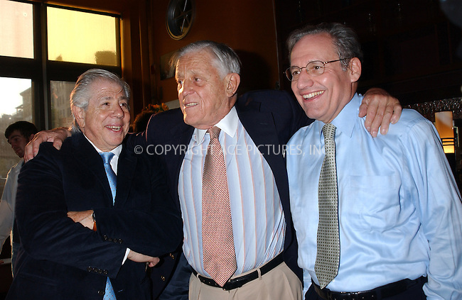 WWW.ACEPIXS.COM . . . . . ....NEW YORK, JULY 19, 2005....Carl Bernstein, Ben Bradlee and Bob Woodward at a special screening of 'All the President's Men' at the Tribeca Cinemas. ....Please byline: KRISTIN CALLAHAN - ACE PICTURES.. . . . . . ..Ace Pictures, Inc:  ..Craig Ashby (212) 243-8787..e-mail: picturedesk@acepixs.com..web: http://www.acepixs.com