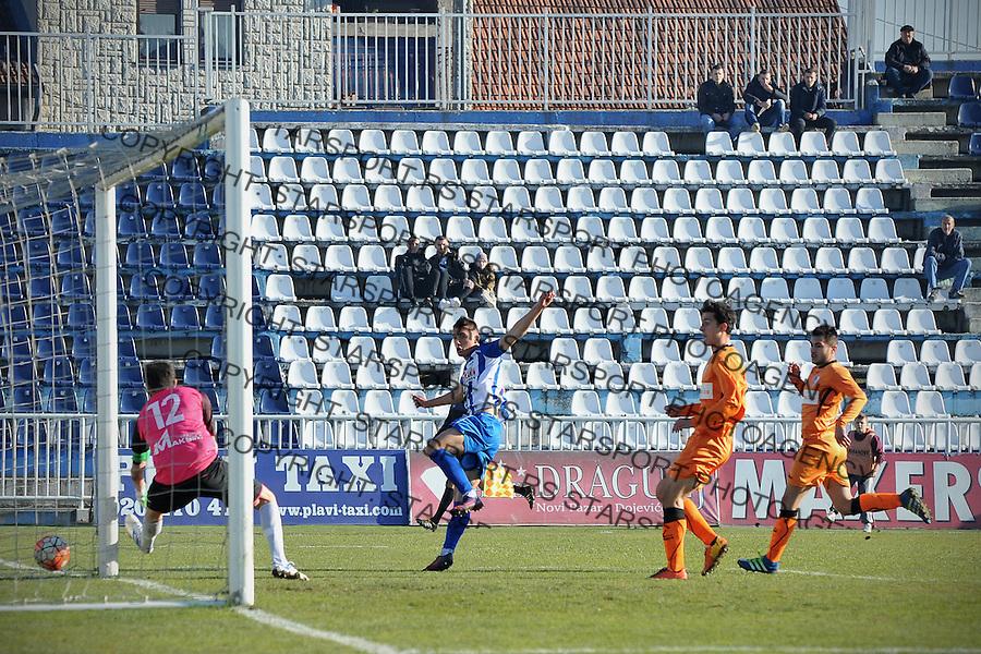 Fudbal Jelen Super League season 2016-2017<br /> Novi Pazar v Spartak<br /> Anes Rusevic postize pogodak (S)<br /> Novi Pazar, 4. 12. 2016<br /> foto: Emir Sadovic/Starsportphoto &copy;
