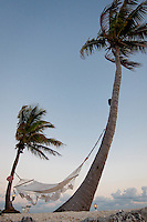 Sunset in the Gulf of Mexico, with hammock at Chesapeake Beach Resort, MM 83.5, Overseas Highway in the Florida Keys, Islamorada, Florida, USA. Photo by Debi Pittman Wilkey