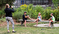A visit to the Seaway Kiwanis Club of Sarnia-Lambton animal farm was a special day out before returning to school for Brenda Hignett, of Watford and her three children. Posing for photographs was included in the venture out. Brenda is seen photographing her children; Tyler, 10, Peyton, 4 and Cole, 6.