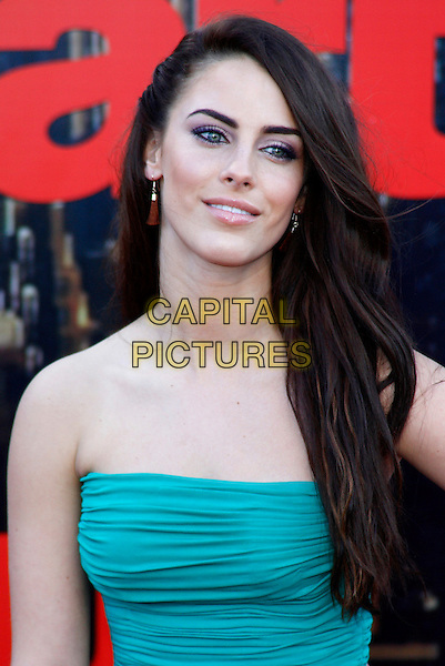 JESSICA LOWNDES .European Premiere of 'Arthur' at Cineworld, O2 Arena, London, England, April 19th 2011..portrait headshot tassel earrings pink eyeshadow beauty  green strapless .CAP/ROS.©Steve Ross/Capital Pictures