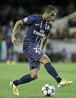 Paris Saint-Germain's Lucas during Champions League 2012/2013 match.February 12,2013. (ALTERPHOTOS/Acero)