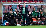 S&ouml;dert&auml;lje 2014-05-18 Fotboll Superettan Syrianska FC - Hammarby IF :  <br /> Hammarbys tr&auml;nare Nanne Bergstrand reagerar<br /> (Foto: Kenta J&ouml;nsson) Nyckelord:  Syrianska SFC S&ouml;dert&auml;lje Fotbollsarena Hammarby HIF Bajen portr&auml;tt portrait