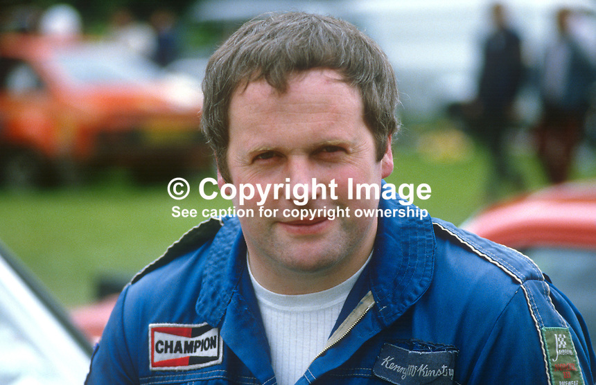 Kenny McKinstry, N Ireland, UK, rally driver, motor sport, 19850709KMK1..Copyright Image from Victor Patterson, 54 Dorchester Park, Belfast, UK, BT9 6RJ..Tel: +44 28 9066 1296.Mob: +44 7802 353836.Voicemail +44 20 8816 7153.Skype: victorpattersonbelfast.Email: victorpatterson@me.com.Email: victorpatterson@ireland.com (back-up)..IMPORTANT: If you wish to use this image or any other of my images please go to www.victorpatterson.com and click on the Terms & Conditions. Then contact me by email or phone with the reference number(s) of the image(s) concerned.