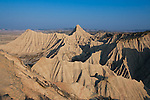 Panoramic of the Bardenas Reales, Navarra (Spain)