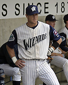 April 21, 2004:  Skip Adams of the Fort Wayne Wizards, Midwest League (Low-A) affiliate of the San Diego Padres, during a game at Memorial Stadium in Fort Wayne, IN.  Photo by:  Mike Janes/Four Seam Images