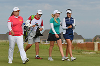 Inbee Park (KOR), Stephanie Meadow (NIR), and Georgia Hall (ENG) head down 10 during round 4 of the Volunteers of America Texas Classic, the Old American Golf Club, The Colony, Texas, USA. 10/6/2019.<br /> Picture: Golffile | Ken Murray<br /> <br /> <br /> All photo usage must carry mandatory copyright credit (© Golffile | Ken Murray)