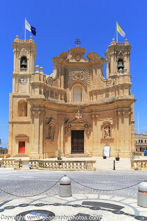 Basilica of the Visitation church, Gharb, island of Gozo, Republic of Malta
