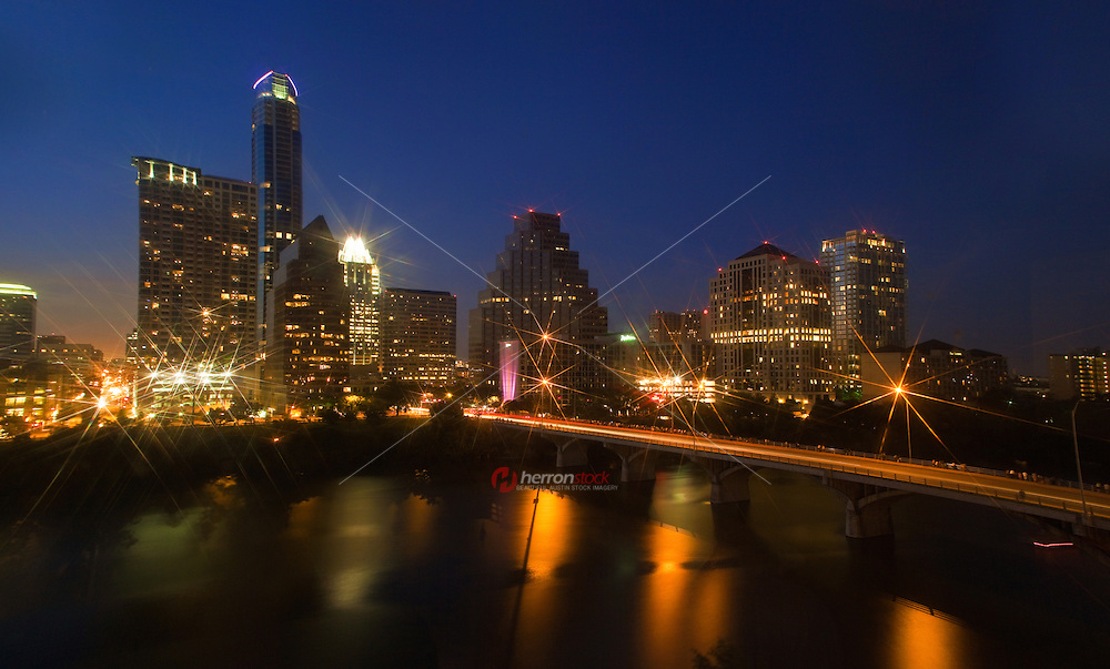Beautiful Austin Skyline captures the sparkle on the downtown lights
