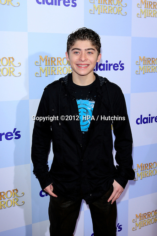 """LOS ANGELES - MAR 17:  Ryan Ochoa arrives at the """"Mirror, Mirror"""" Premiere at the Graumans Chinese Theater on March 17, 2012 in Los Angeles, CA"""