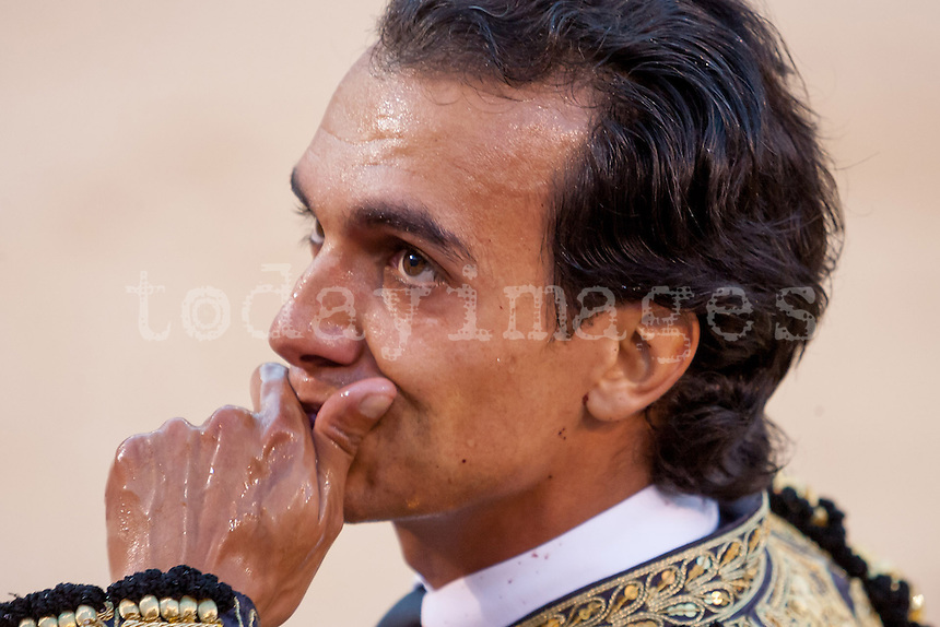 Leandro at the Bullfight Virgen de la Paloma festivity