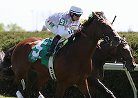 Al Khali and Alan Garcia win the 5th race, Allowance, $67,000.  April 7, 2012.