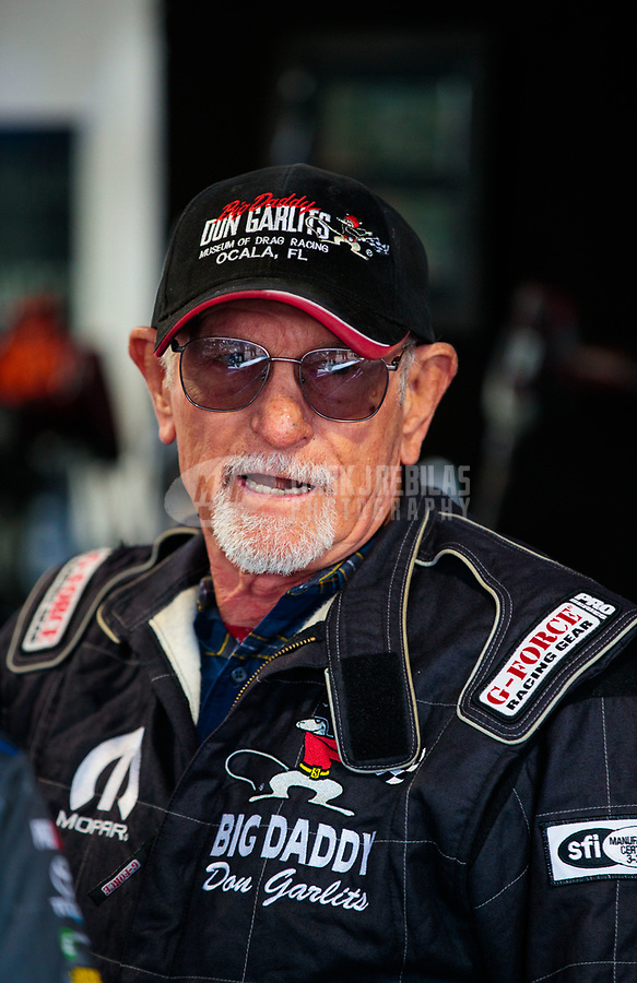 Mar 16, 2019; Gainesville, FL, USA; NHRA former driver Don Garlits during qualifying for the Gatornationals at Gainesville Raceway. Mandatory Credit: Mark J. Rebilas-USA TODAY Sports
