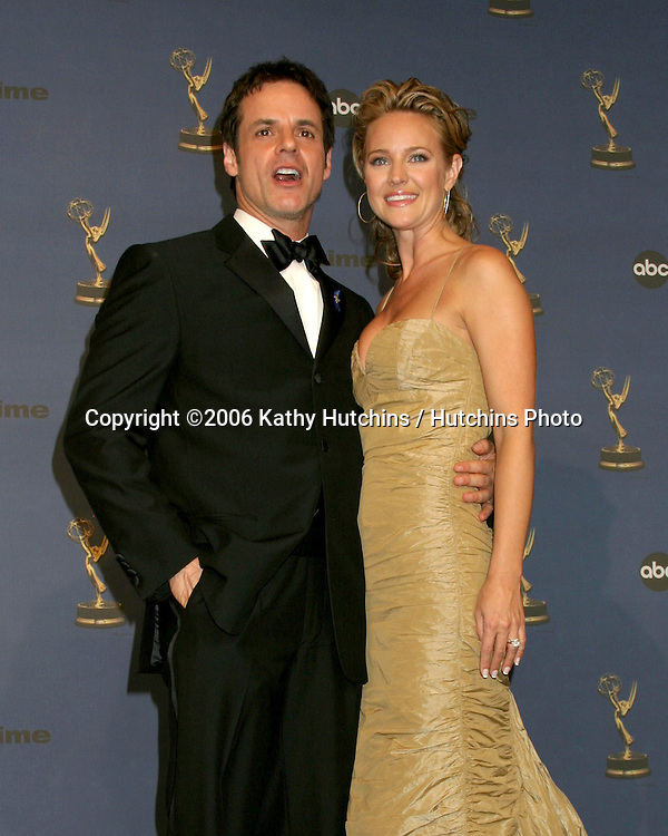 Christian LeBlanc & Sharon Case.33rd Daytime Emmy Awards.Kodak Theater.Hollywood & Highland.Los Angeles, CA.April 28, 2006.©2006 Kathy Hutchins / Hutchins Photo..