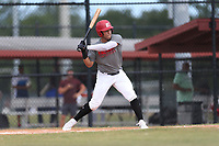Mykanthony Valdez (71) of Calvary Christian Academy in Davie, Florida during the Under Armour Baseball Factory National Showcase, Florida, presented by Baseball Factory on June 12, 2018 the Joe DiMaggio Sports Complex in Clearwater, Florida.  (Nathan Ray/Four Seam Images)