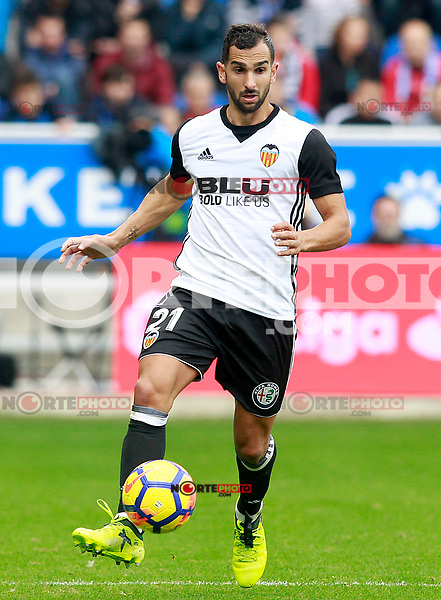 Valencia CF's Martin Montoya during La Liga match. October 28,2017. (ALTERPHOTOS/Acero) /NortePhoto.com