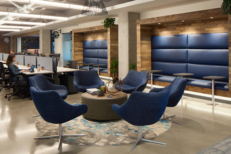 Brick House Blue Furniture Installation | Kimball