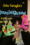 Another World's Linda Dano with Dorsel & Bubbles at the opening night of John Tartaglia's Imaginocean, a new family undersea musical adventure on March 31, 2010 at New World Stages, New York City, New York. John Tartaglia's ImaginOcean is an interactive family show - a magical, musical undersea adventure for kids of all ages. Tank, Bubbles, and Dorsel are three best friends who just happen to be fish, and they're about to set out on a remarkable journey of discovery. And it all starts with a treasure map. As they swim off in search of clues, they'll sing, they'll dance, and they'll make new friends -- including everyone in the audience. Ultimately, they discover the greatest treasure of all -- friendship. Jam-packed with original music ranging from swing to R&B to Big Band, John Tartaglia's ImaginOcean is a blast rom the first big splash to the last wave goodbye. (Photo by Sue Coflin/Max Photos)
