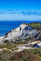 Gay Head cliffs, Moshup beach, Aquinnah, Martha's Vineyard, Massachusetts, USA