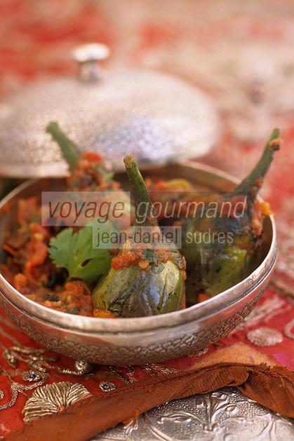 """Asie/Inde/Rajasthan/Udaipur: Hotel """"Taj Lake Palace"""" sur le lac Pichola - Recette """"Bharwan Kadhai Baigan"""" - Mini-aubergines farcies"""