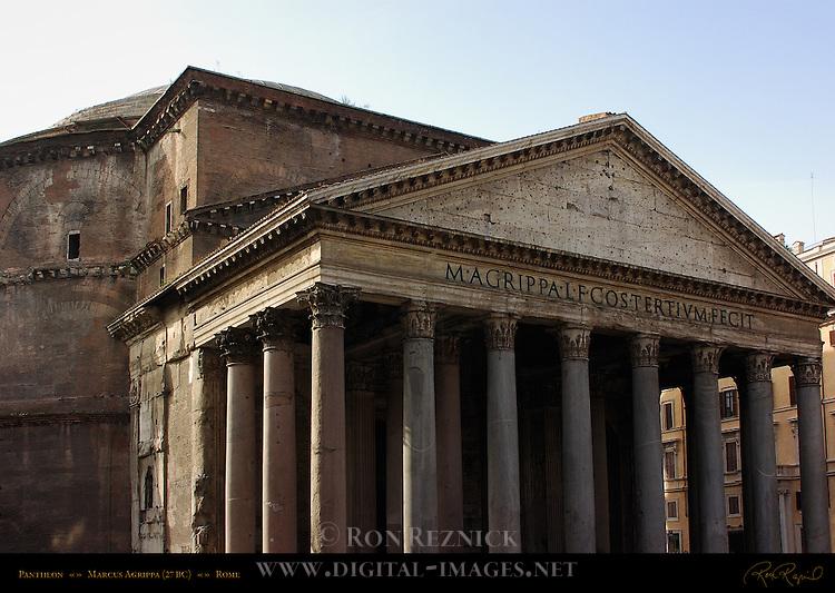Pantheon exterior inscription Marcus Agrippa Hadrian 126 AD Campus Martius Rome