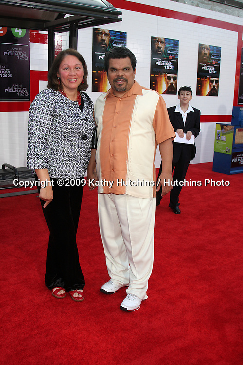 """Luis Guzman & wife arriving at the Premiere of """"The Taking of Pelham 123"""" at the Mann Village Theater in Westwood, CA   on June 4, 2009 .©2009 Kathy Hutchins / Hutchins Photo.."""