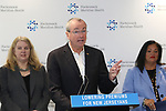 Governor Phil Murphy speaks at Riverview Medical Center