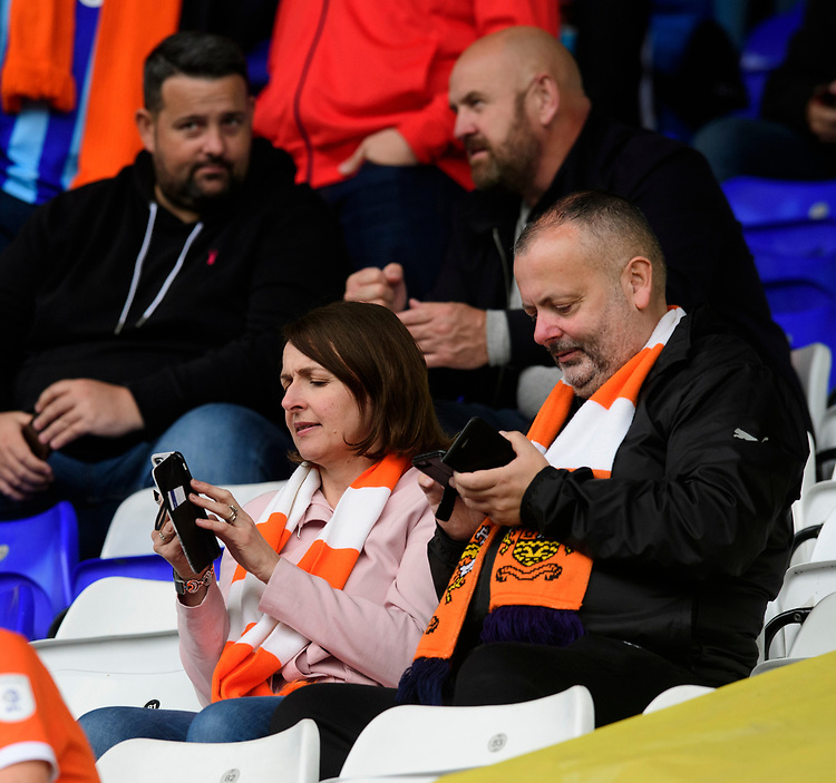 Blackpool fans enjoy the pre-match atmosphere<br /> <br /> Photographer Chris Vaughan/CameraSport<br /> <br /> The EFL Sky Bet League One - Coventry City v Blackpool - Saturday 7th September 2019 - St Andrew's - Birmingham<br /> <br /> World Copyright © 2019 CameraSport. All rights reserved. 43 Linden Ave. Countesthorpe. Leicester. England. LE8 5PG - Tel: +44 (0) 116 277 4147 - admin@camerasport.com - www.camerasport.com